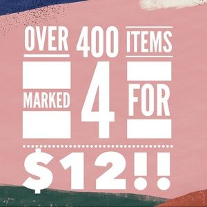 Marked jewelry items 4 for $12!!!